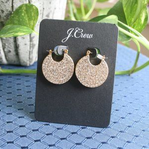 NEW GOLD PAVE PIERCED EARRINGS